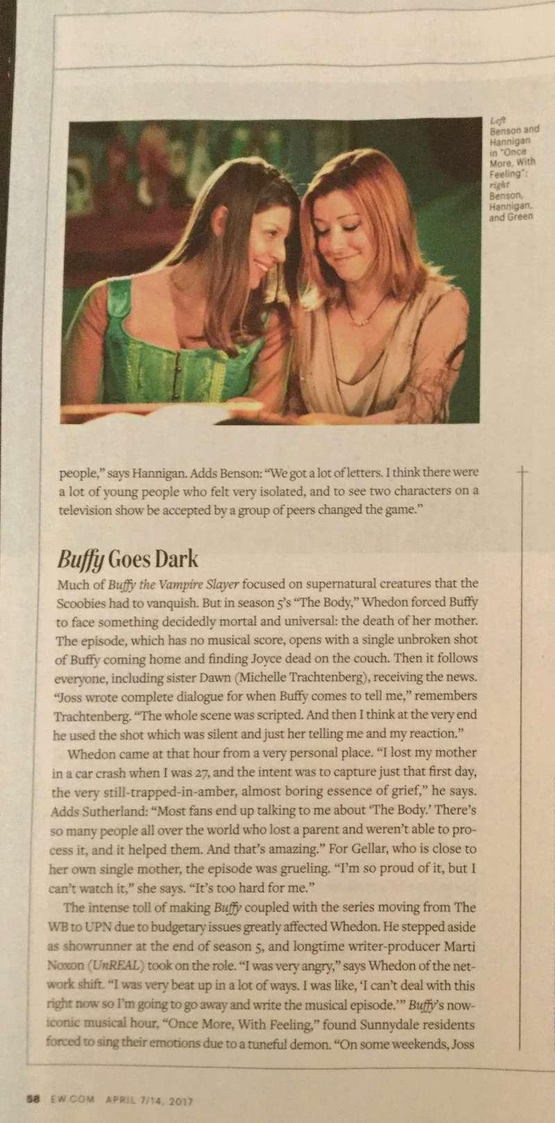 Numéro Entertainment Weekly pour les 20 ans de BtVS Nouvea17