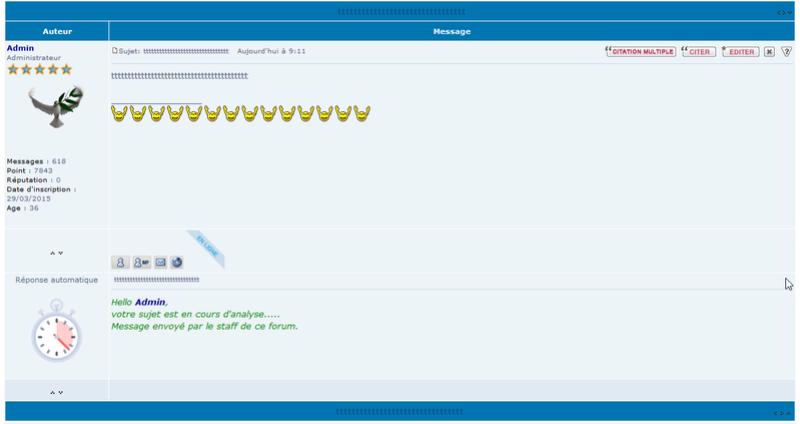 [PHPBB2] Afficher une réponse automatique style staff 120