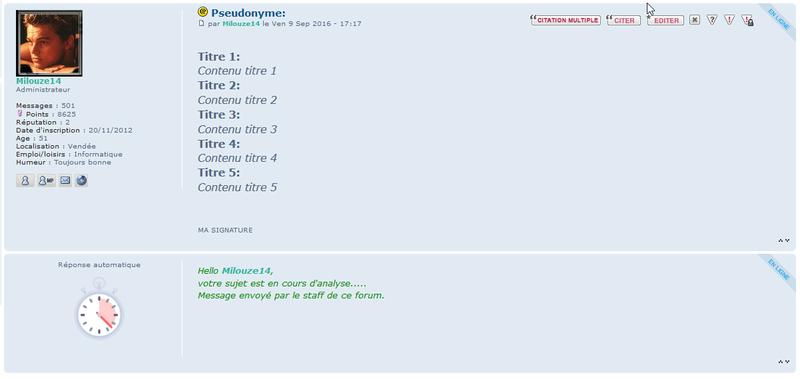 [PHPBB3] Afficher une réponse automatique style staff 123