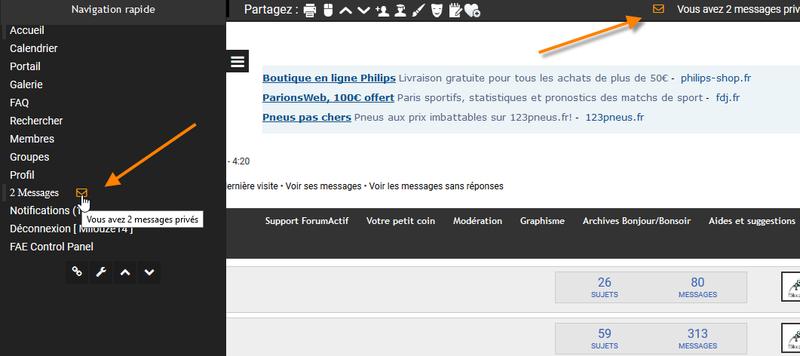 [EDGE] Afficher le nombre de message privé non lus sur la toolbar etc 158
