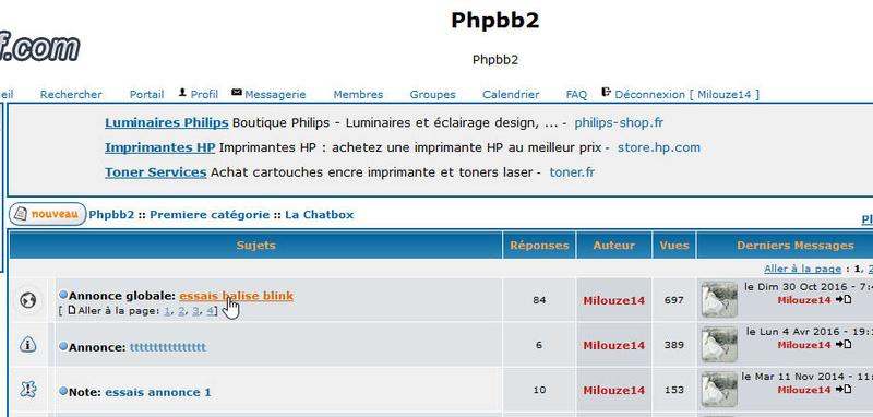 [PHPBB2] Ancrer la liste des sujets et les messages 210
