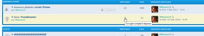 [PHPBB3] Afficher une infobulle dans les cellules des forums et la liste des sujets Liste10