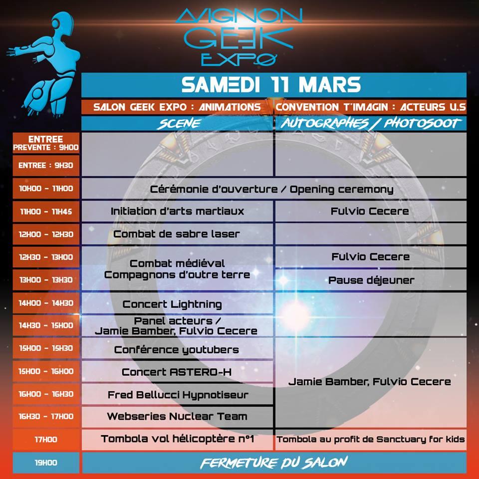 MAJ : Avignon Geek Expo 2  : 17-18 février 2018 Progra10