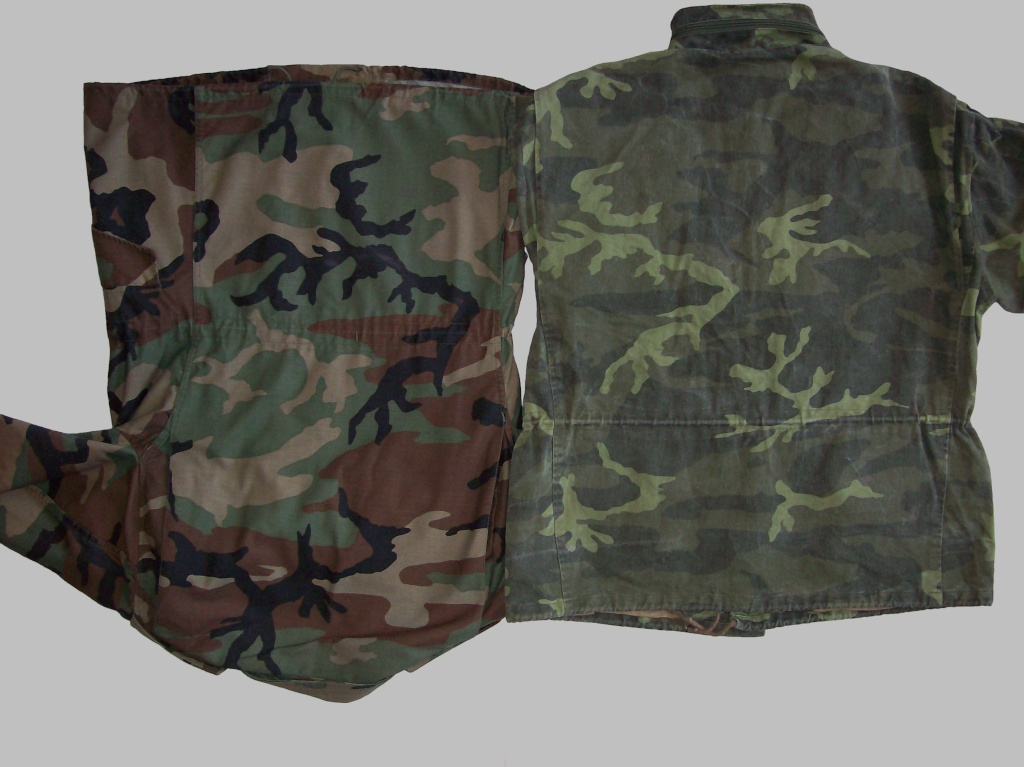 Bosnian woodland camouflage jacket & shirt 100_4319
