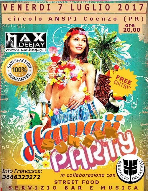 Venerdì 7 Luglio 2017-Hawaii Summer Party @ Coenzo (PR) by MAX TESTA DEEJAY Hawaii10