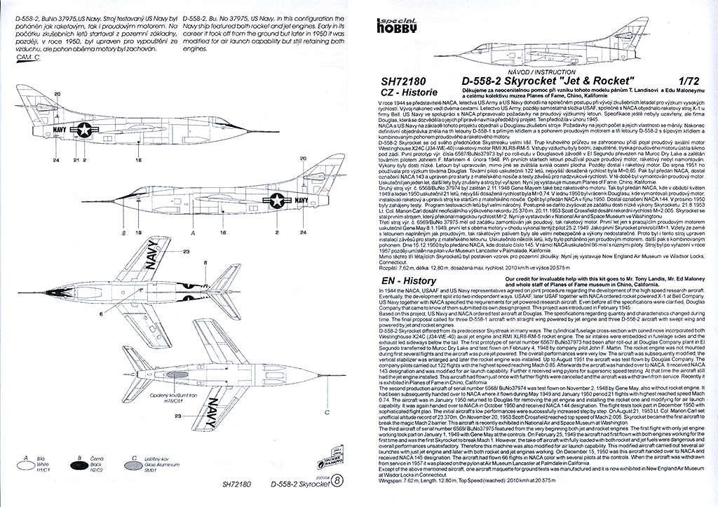 Douglas D-588-II ''Skyrocket'' casseur de Mach (1:72 Special Hobby) Dougla20