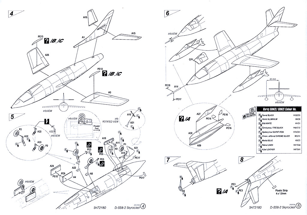 Douglas D-588-II ''Skyrocket'' casseur de Mach (1:72 Special Hobby) Dougla21