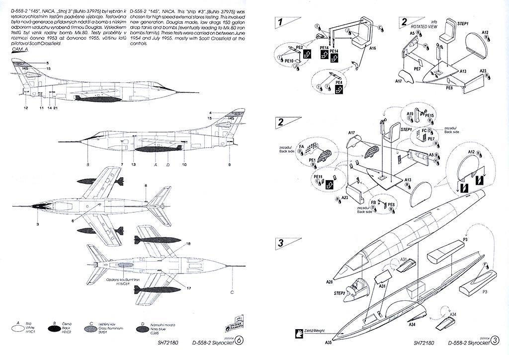 Douglas D-588-II ''Skyrocket'' casseur de Mach (1:72 Special Hobby) Dougla22