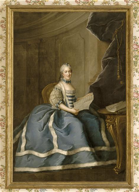 Lié-Louis Périn-Salbreux : Portrait de Marie-Antoinette ou de Madame Sophie ? Marie-16