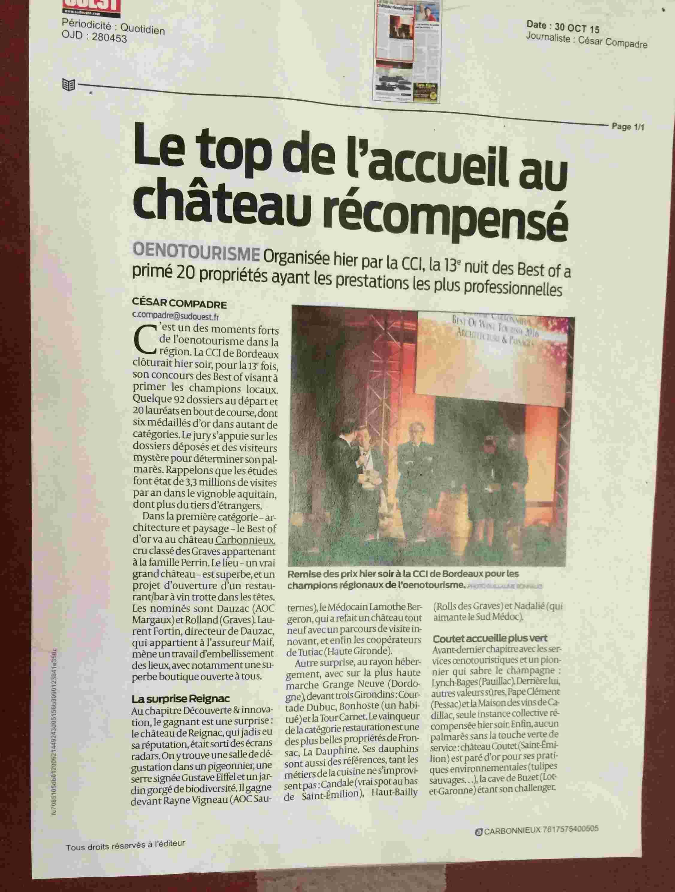 Le vignoble du Pessac Leognan - Page 15 Carbon36