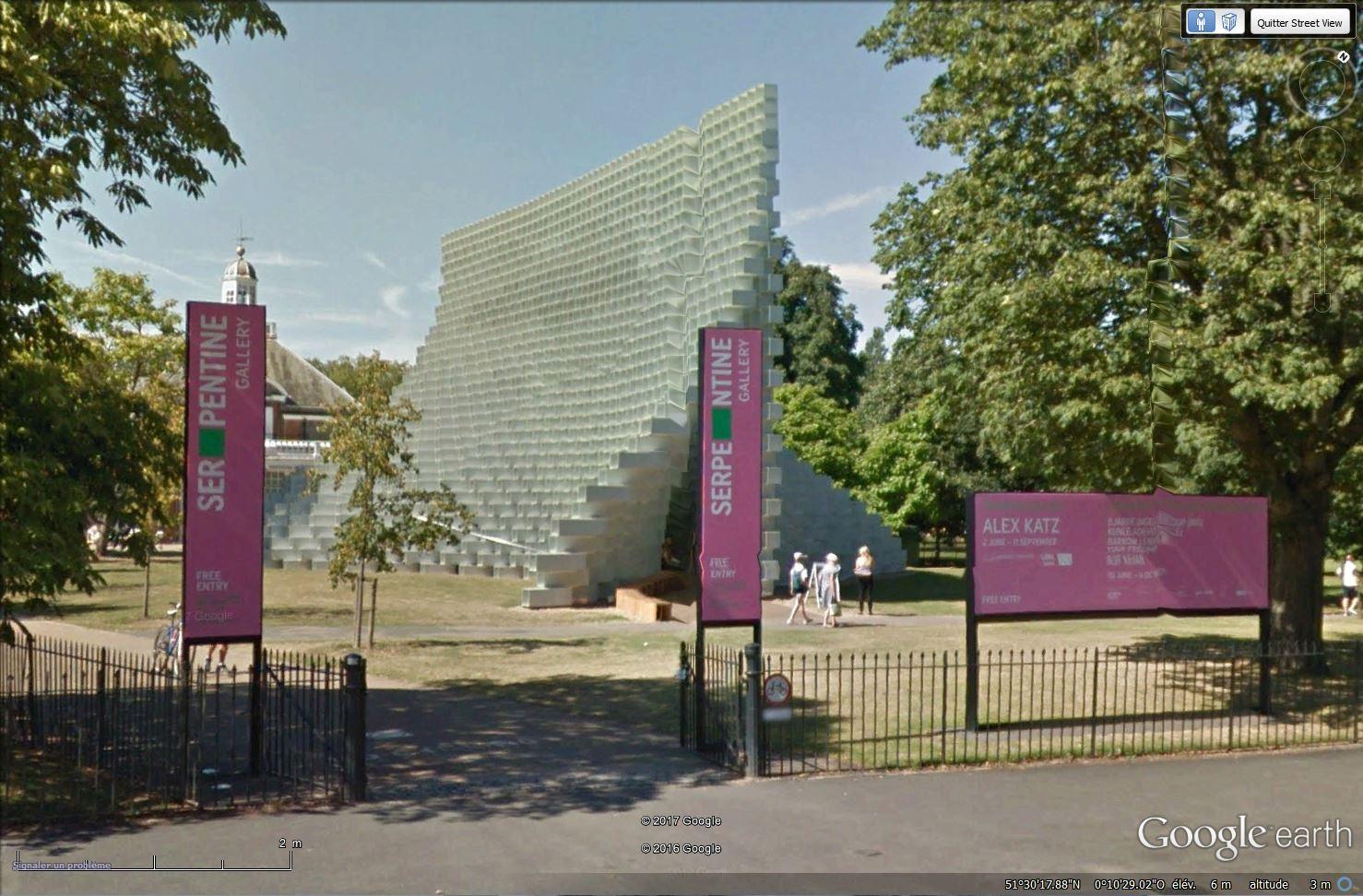 Evolution des pavillons d'été de la Serpentine Gallery à Londres - Royaume-Uni Tsge_217