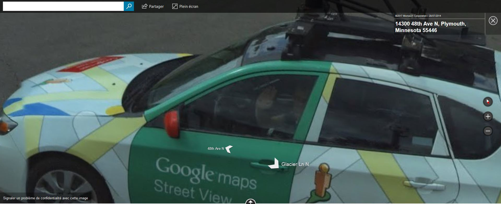 Google-Car contre Bing-Car - Plymouth - Minnesota Tsge_273
