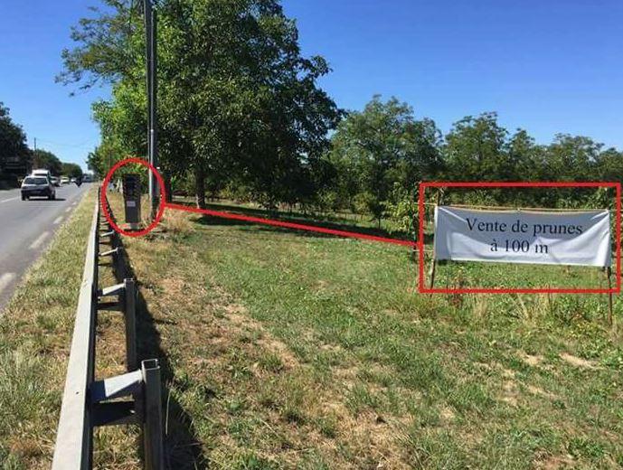 Nouveaux panneaux pour annoncer les radars automatiques Prune10