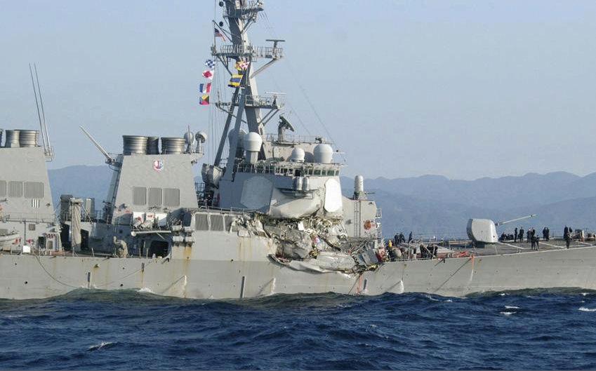 Collision destroyer USS Fitzgerald avec un navire marchand ! Zeebru49