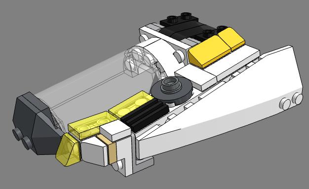 [MOC] Navette d'assaut légère LAS-01 de la Fédération Minière Galactique(Version finale et montage)  Tylych10