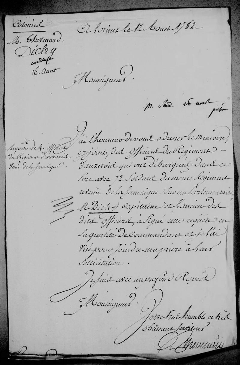 Régiment  du Languedoc et d'Auxerrois 1778 1783 Retour10