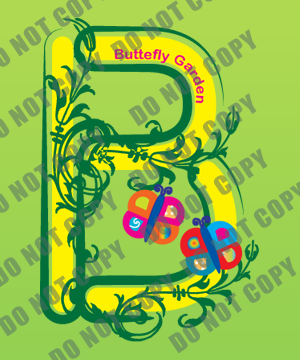 Decorate letter B - Butterfly garden  17710