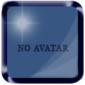 No avatar colored glossy Blue_a10