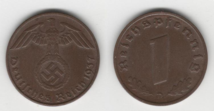 1 Reichpfenning 1940 Alemania Nazi Img00310