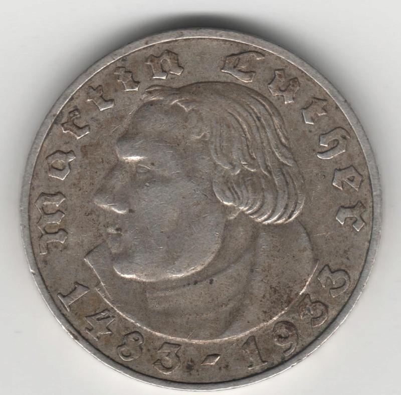 2 Reichsmark. Alemania - Tercer Reich. 1933 Img20012