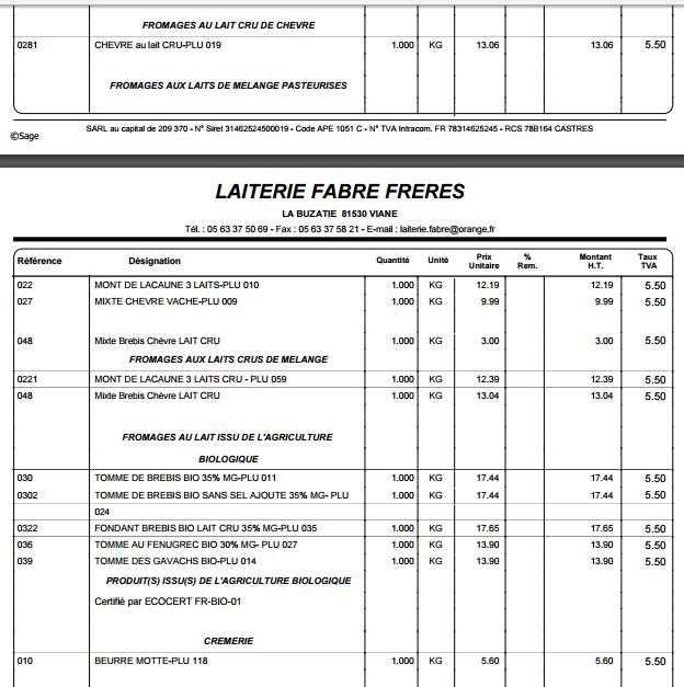 ACHAT GROUPE FROMAGES DE LAC AUNE FABRE  Devis_11