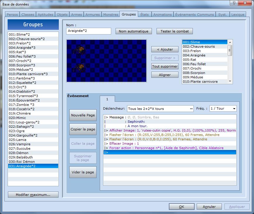 Bug avec script SBS 3.4 111
