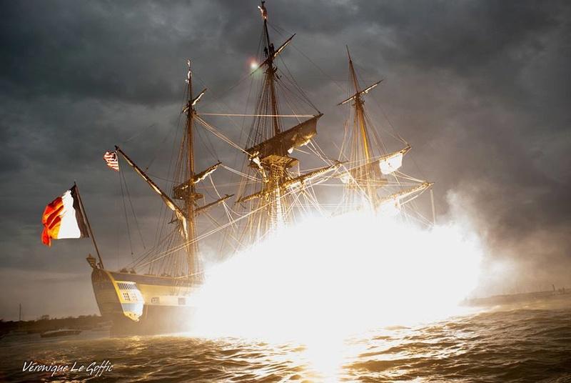 [ Marine à voile ] L'Hermione en action Cannon12