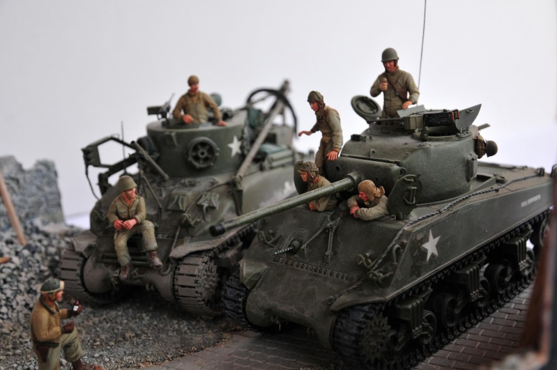 Normandie 44 - M32 Italeri - Sherman M4 Heller - 1/35e 40-nor22