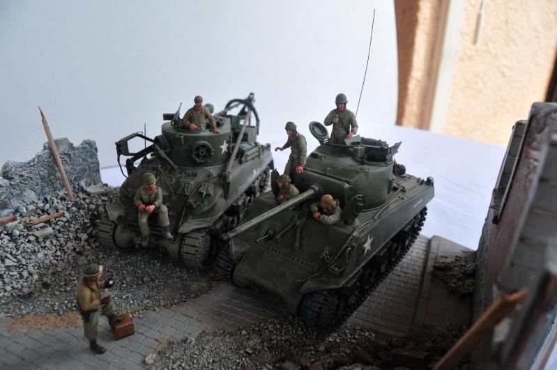 Normandie 44 - M32 Italeri - Sherman M4 Heller - 1/35e 40-nor23