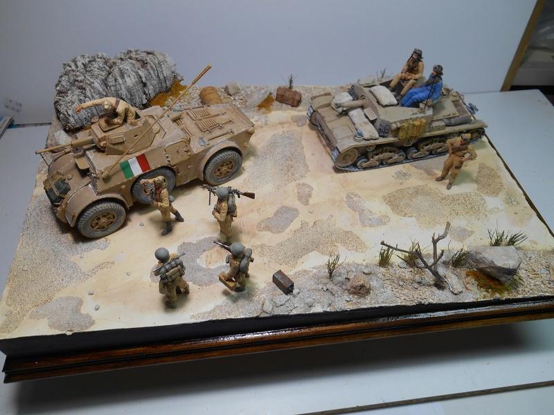 """""""La pattuglia persa"""" - Maquettes Italeri - Figurines MB et Mini Art - 1/35e R40-1541"""