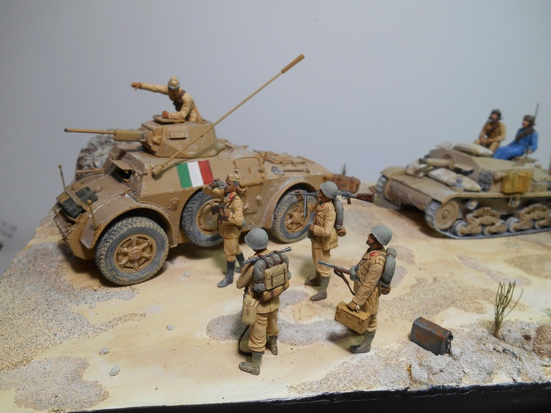 """""""La pattuglia persa"""" - Maquettes Italeri - Figurines MB et Mini Art - 1/35e R40-1543"""