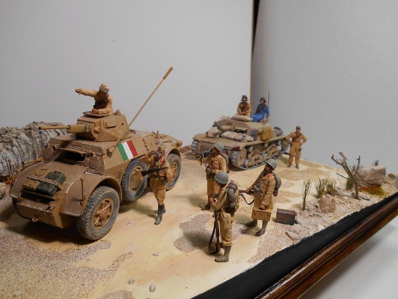 """""""La pattuglia persa"""" - Maquettes Italeri - Figurines MB et Mini Art - 1/35e R40-1546"""