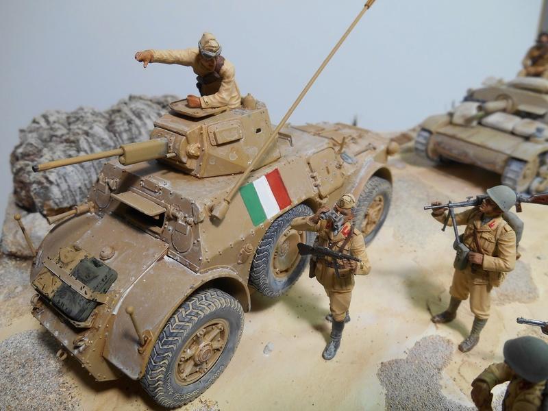 """""""La pattuglia persa"""" - Maquettes Italeri - Figurines MB et Mini Art - 1/35e R40-1547"""