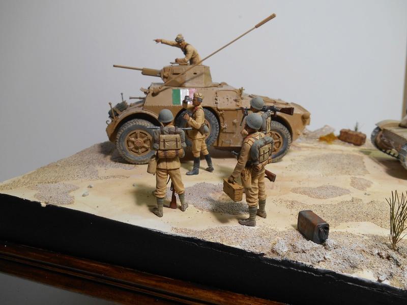 """""""La pattuglia persa"""" - Maquettes Italeri - Figurines MB et Mini Art - 1/35e R40-1548"""