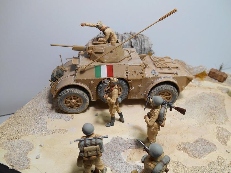 """""""La pattuglia persa"""" - Maquettes Italeri - Figurines MB et Mini Art - 1/35e R40-1549"""