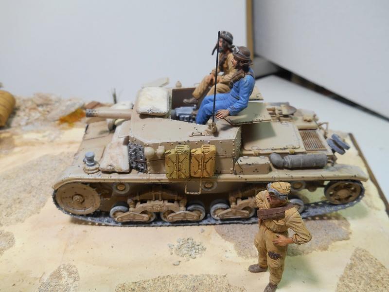 """""""La pattuglia persa"""" - Maquettes Italeri - Figurines MB et Mini Art - 1/35e R40-1550"""