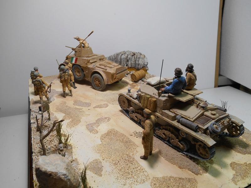 """""""La pattuglia persa"""" - Maquettes Italeri - Figurines MB et Mini Art - 1/35e R40-1551"""