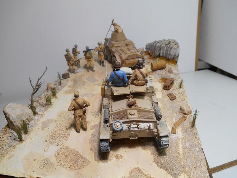 """""""La pattuglia persa"""" - Maquettes Italeri - Figurines MB et Mini Art - 1/35e R40-1553"""