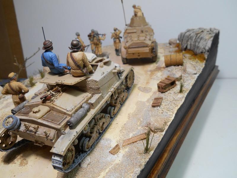 """""""La pattuglia persa"""" - Maquettes Italeri - Figurines MB et Mini Art - 1/35e R40-1554"""