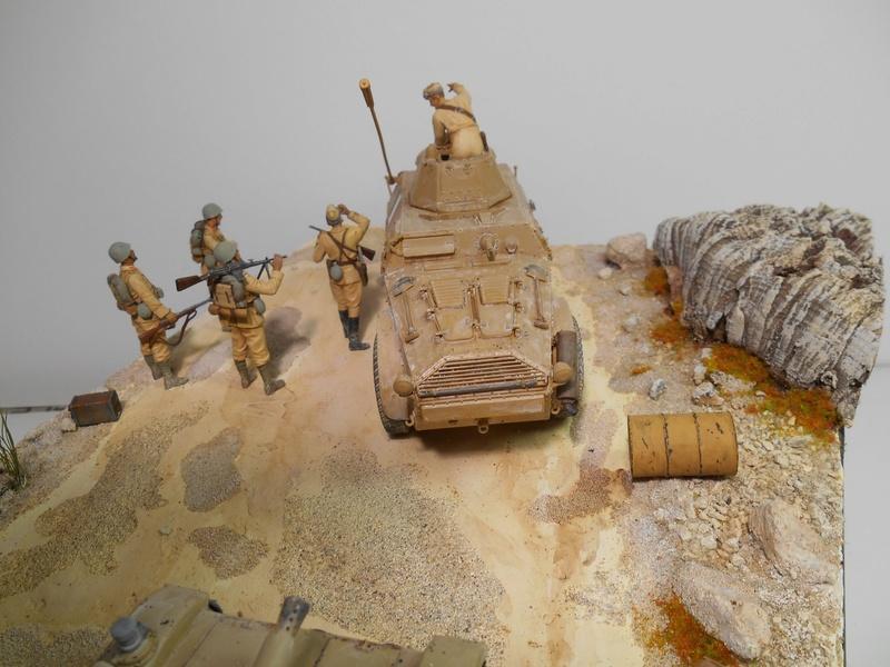 """""""La pattuglia persa"""" - Maquettes Italeri - Figurines MB et Mini Art - 1/35e R40-1555"""