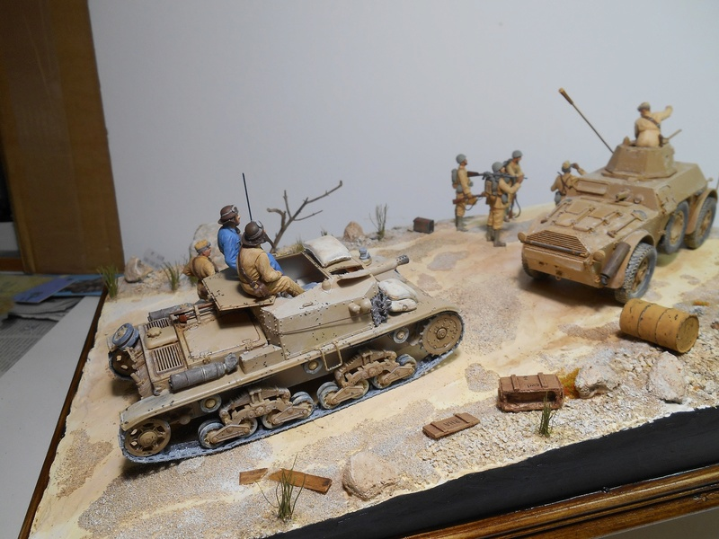 """""""La pattuglia persa"""" - Maquettes Italeri - Figurines MB et Mini Art - 1/35e R40-1556"""