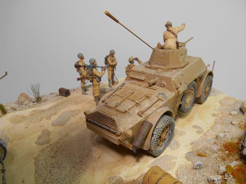 """""""La pattuglia persa"""" - Maquettes Italeri - Figurines MB et Mini Art - 1/35e R40-1557"""
