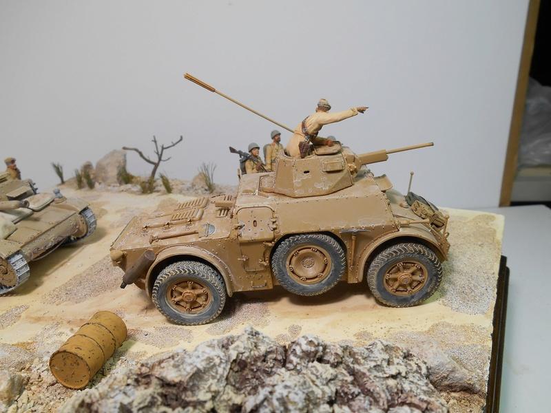 """""""La pattuglia persa"""" - Maquettes Italeri - Figurines MB et Mini Art - 1/35e R40-1559"""