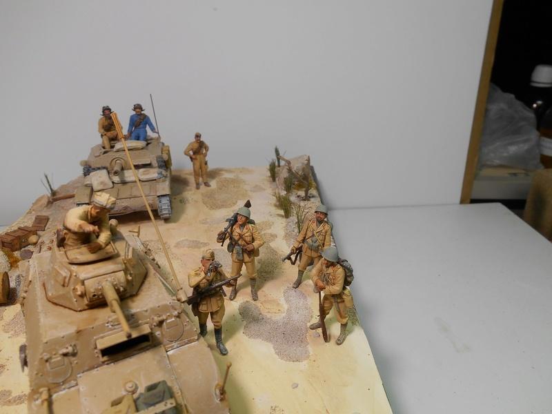 """""""La pattuglia persa"""" - Maquettes Italeri - Figurines MB et Mini Art - 1/35e R40-1563"""