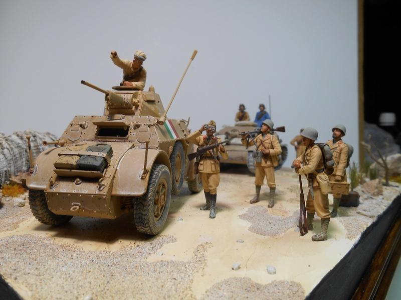 """""""La pattuglia persa"""" - Maquettes Italeri - Figurines MB et Mini Art - 1/35e R40-1564"""