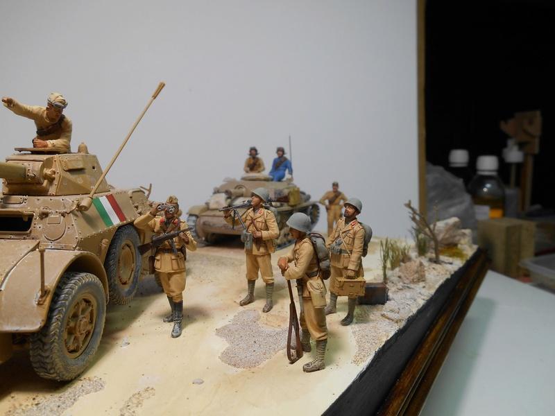 """""""La pattuglia persa"""" - Maquettes Italeri - Figurines MB et Mini Art - 1/35e R40-1565"""
