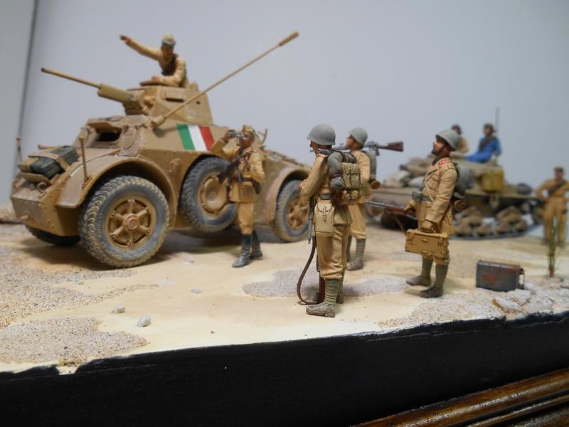 """""""La pattuglia persa"""" - Maquettes Italeri - Figurines MB et Mini Art - 1/35e R40-1566"""