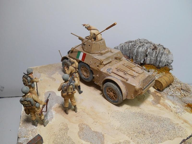 """""""La pattuglia persa"""" - Maquettes Italeri - Figurines MB et Mini Art - 1/35e R40-1569"""