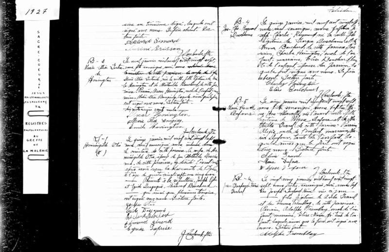 Mariage entre Herménégilde Otis et Domitille Dechesne vers 1885 Deces_12