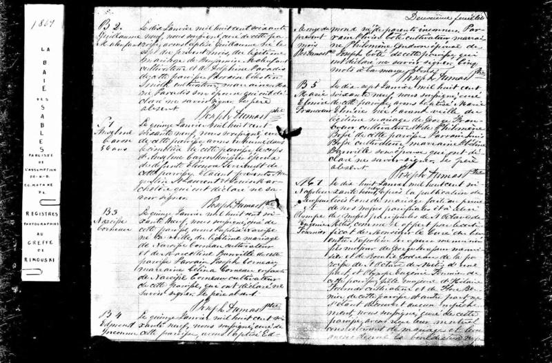 Recherche naissance et décès de Elmire Leclerc/Francoeur? Elmire10